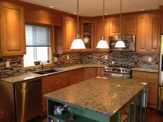 Mountain Green Granite Countertops Enhance Natural Beauty